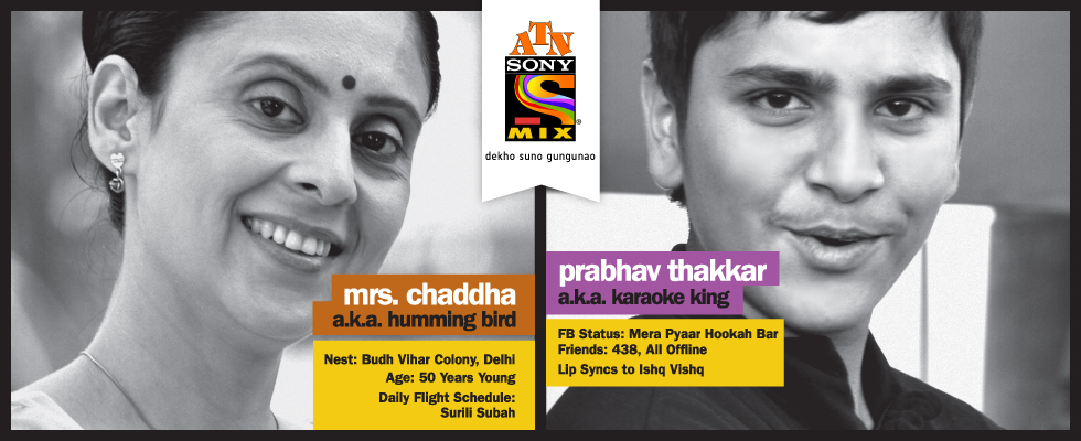 mrs chaddha humming bird prabhav thakkar karaoke king atn sony mix