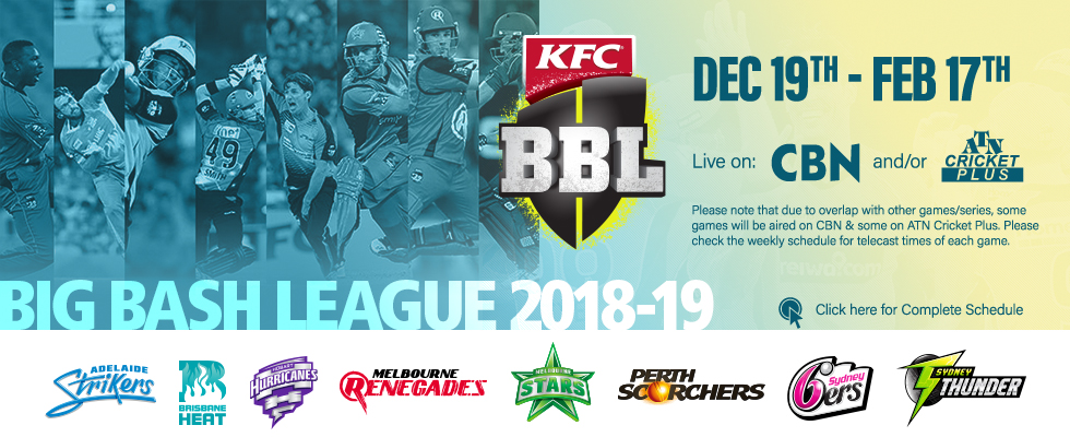 big bash league 2018-19 atn cricket plus